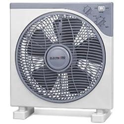'Ventilateur Carré de 12| haute qualité | Design moderne | moteur silencieux | Minuteur 2Heures | Grille vibrante | 3trous | Puissance: 40W.