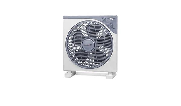 Ventilateur Carr/é de 12/  haute qualit/é Design moderne moteur silencieux Minuteur 2/Heures 3/trous Puissance: 40/W. Grille vibrante