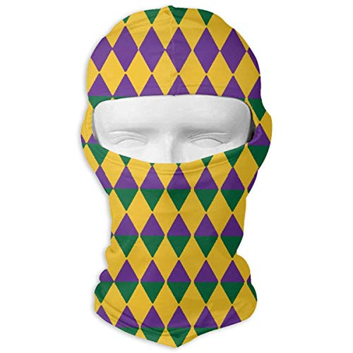 Colors Mardi Gras Balaclava UV Protection Windproof Ski Face Masks Cycling Outdoor Sports Full Face Mask Breathable ()