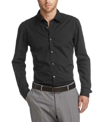 ESPRIT Herren Slim Fit Freizeithemd 993EE2F900, Gr. XXX-Large (Herstellergröße: 56), Schwarz (001 BLACK)