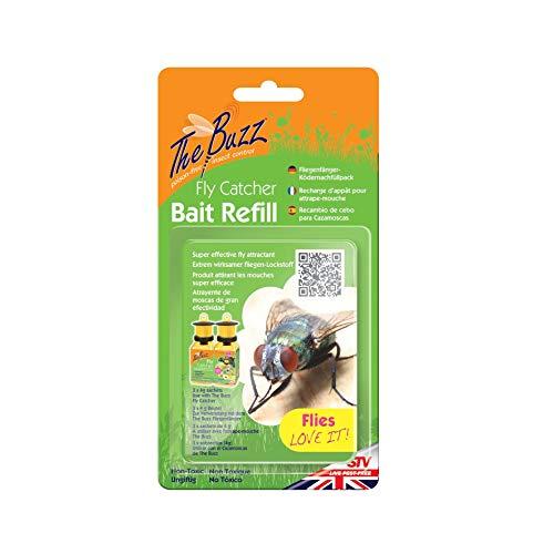 Die Buzz Fly Catcher Köder Refill mit Super Effect Insect Attractant, deckt bis zu 10 m Radius - 3 Packungen (je 4 g) -