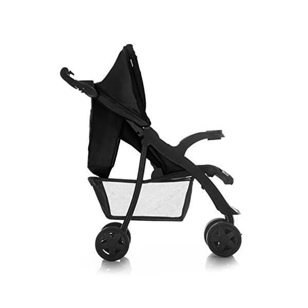 Hauck Shopper Neo II One Hand Fold 4 Wheel Pushchair with Raincover, Black, From Birth to 15 Kg Hauck Fold in seconds with one hand Comfortable seat with lying position and adjustable footrest Includes 2 practical bottle trays 5
