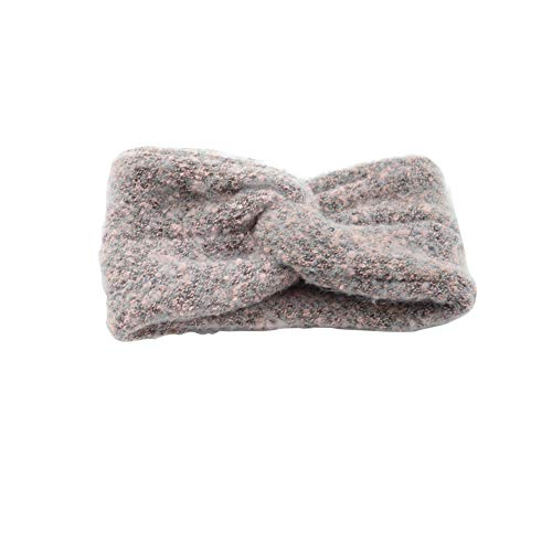 Lovinda Haarband Damen Stirnband Kreuz SAMT Winter Freizeit Knitting Elastische Kopfschmuck Haarreif Fotografie Requisiten/Yoga (Rosa)