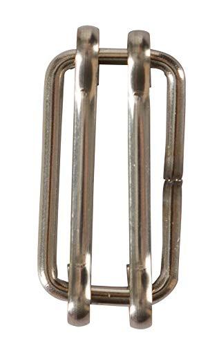 AKO Weidezaunband Verbinder, Breitbandverbinder 20mm - Edelstahl, 10 Stk. - Einfache Verbindung von Weidezaunband - Reparieren von gerissenem Band - Edelstahl für Bessere Leitfähigkeit
