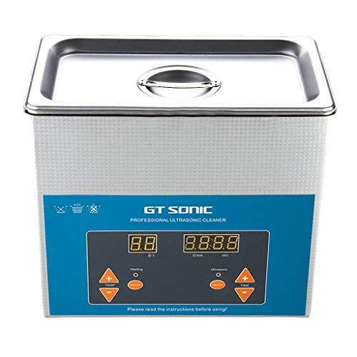 GT Sonic 3 Liter Digital Display Ultrasonic Cleaner with Timer Setting  Adjutable Used for Scientific Lab,Industry,Jewelry Manufacturing,Medical  and