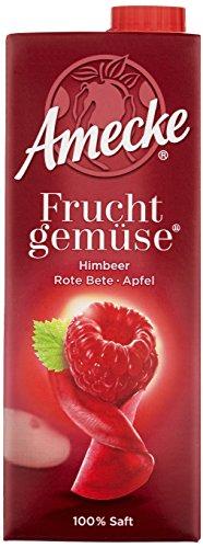 Amecke Fruchtgemüse Himbeer-Rote Bete-Apfel - 100%, 6er Pack (6 x 750 ml)