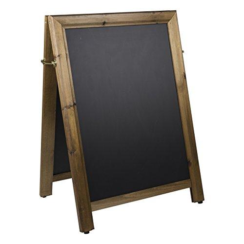 Chalkboards UK Kreidetafeln UK Qualität Quadratisch Top EIN Rahmen Tafel, Holz, dunkle Eiche, 102x 73x 5cm