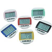 Delicacydex Multifunktions-Mini-Wasserdichter Digital-Schrittzähler Schrittbewegung Kalorienzähler Kleine und leichte Speicherfunktion - Zufällig