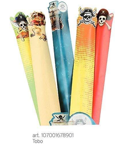 party Piraten 5 Stück Rohr für Süßigkeiten aus 43.5 cm Süßigkeiten Marshmallow Made in Italy