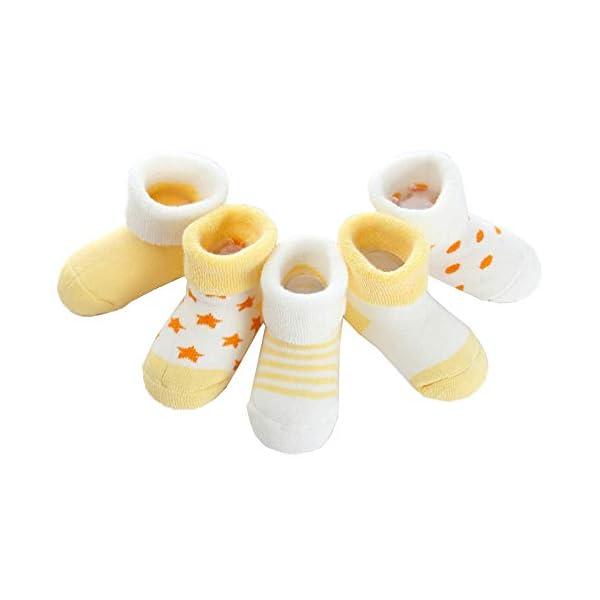 Z-Chen Pack de 5 Pares de Calcetines Bebé Niño Niña Algodón 1