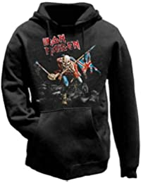 Tee Shack Iron Maiden The Trooper Eddie Bruce Dickinson Oficial Sudaderas Capucha Hombre