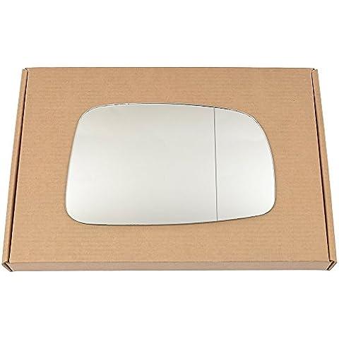 Amplia ángulo derecho lado del conductor ala de plata espejo de cristal para Toyota Corolla Verso