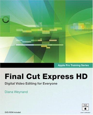 Apple Pro Training Series Final Cut Express Hd 1st Edition