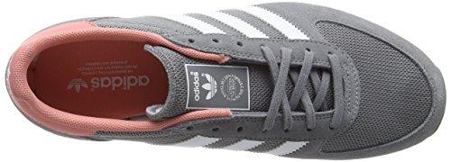 adidas Zx Racer, Baskets Basses Femme Gris (Grey/Ftwr White/Peach Pink F15-St)