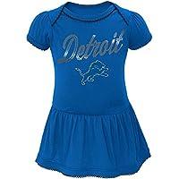 """Detroit Lions NFL """"Dazzled"""" Infant Girls Bodysuit Dress"""