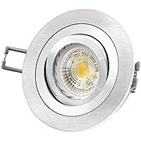 RF-2 LED-Einbaustrahler Alu rund Spot 6 Watt COB LED warmweiß GU10 230V wie 50W