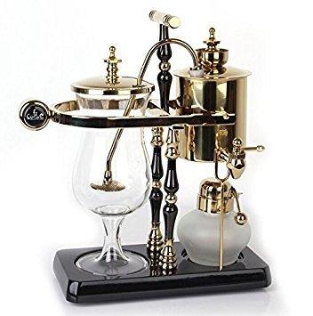 Belga Bélgica clásicos Syphon Cafetera eléctrica de balance de familia real de lujo doble columna