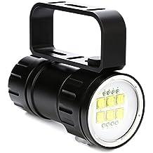 Linterna de buceo ZEUeo MAX 28800LM(MAX)  QH14 LED Q5 3 modelos IPX8 300W 18650 Impermeable 3 colores de luz 80m multifunción Submarino Linterna de buceo ...