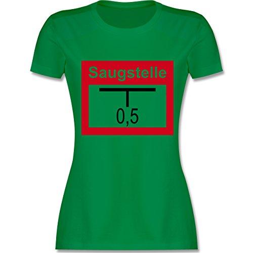 Feuerwehr - Saugstelle - tailliertes Premium T-Shirt mit Rundhalsausschnitt für Damen Grün