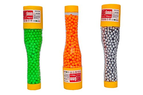Gifts Online 6MM Plastic BB Bullets For Toy Guns & Air Gun - Number Of Pieces (2000+)