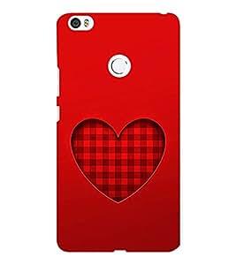 EPICCASE checked heart Mobile Back Case Cover For Xiaomi Mi Max (Designer Case)
