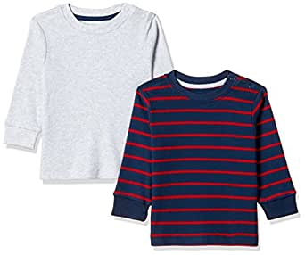 Mothercare Baby Boys' T-Shirt (Pack of 2) (JF296-1-multicoloured-6-9 M)