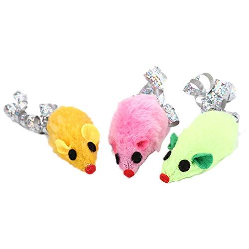 lamta1k Haustier-Spielzeug, Plüschmaus, Lustiges Katzenspielzeug Haustier-Katzen-Kätzchen Lustige Papier-Plüschmaus, Die Fang Kaut, Das Wechselwirkendes Spielzeug Spielt Zufällige Farbe - Lustige Kätzchen