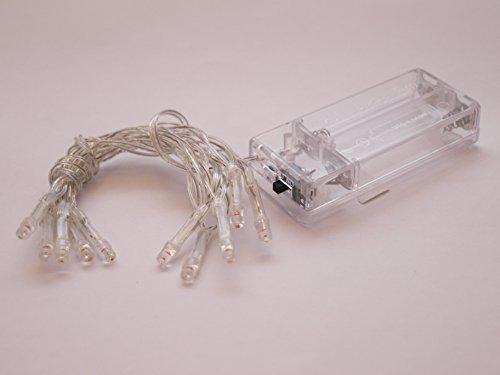 LED-Lichterkette mit 10 Lämpchen, versch. Farben, batteriebetrieben (multicolor)