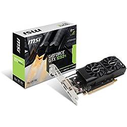 MSI GTX 1050 TI 4GT LP Cartes Graphiques Nvidia GTX1050 Ti 1392 MHz 4 Go PCI Express
