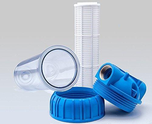 PRIESER Pumpen-Vorfilter, Wasserdurchfluss bis 5.000 l/h mit Wandhalterung und Filterschlüssel - 4