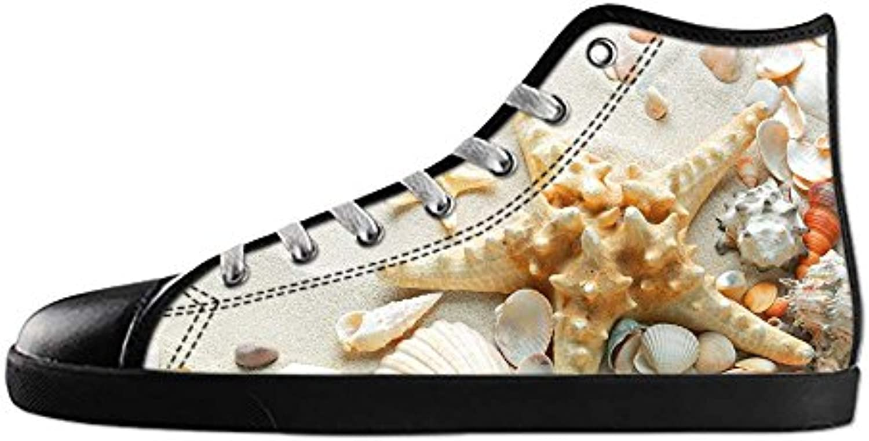 Custom Spiaggia delle stelle marine Men's Men's Men's Canvas scarpe I lacci delle scarpe in Alto sopra le scarpe da ginnastica... | Non così costoso  2b3ea8