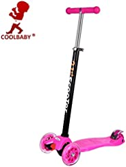 3 Wheel Kick Scooter for Kids Boys Girls Adjustable Height PU Wheels Best Gifts for Children from 3 to 12 Year