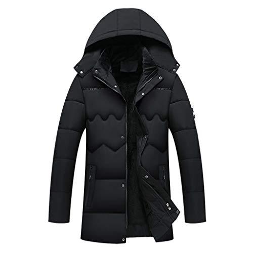 Herren Oversize Reißverschluss Mäntel Hoodie Lang Daunenjacke Coat für Männer Mit Tasche Wintermantel Wandern Radfahren Skifahren Mantel Outdoor Winter Warm Dicke Mantal