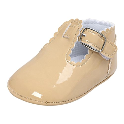 Fossen Zapatos Bebe Antideslizante Suela Blanda Primeros Pasos para Recién Nacido Niña Niño 6-12...