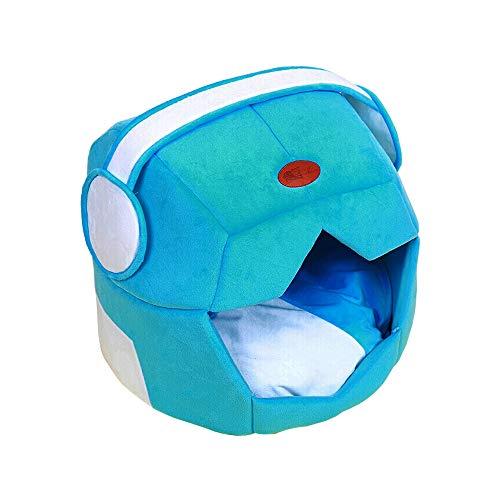 Pet Nest abnehmbar und waschbar Vier Jahreszeiten Universal Kennel Pet Teddy Kennel Haus Cat Nest Villa als Bear Nest Kennel liefert Space Nest - grau/blau (Farbe : B, größe : M) -