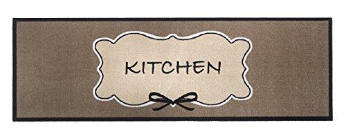 Küchenmatte Kitchen | 150 x 50 cm | rutschfest | langlebig | bis 30° Maschinen-waschbar