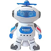 Popsugar Robot Top-Dance Digital Warrior 09 with Flashing Lights and Music (White,THRBFX2865)