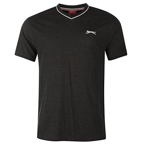 Home Herren Ärmellos (Slazenger Herren V-Ausschnitt T Shirt Kurzarm Tee Top Bekleidung Grau M)