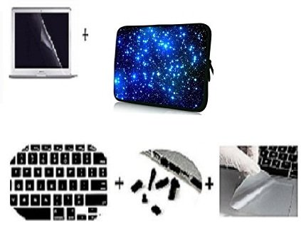 Floral Theme Soft Water-proof Neoprene Carrying Case Sleeve Bag For Macbook Air 13 Inch(Models: A1369 and A1466) with screen guard+touchpad protector+keyguard + Dust plugs code (03)