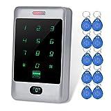 LIBO Metall Wasserdichte Access Controller RFID Tastatur Weigang 26/34, 8000 Benutzer, 10 stücke 125 KHz RFID Keyfobs für Home Office Türschloss Eintrag System