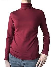 Lady Bella Lingerie Jersey térmico Mujer de Cuello Alto de Manga Largas para Dama con Forro en Felpa Puede usarse Debajo de Las Chaquetas o como Camiseta Interior térmica