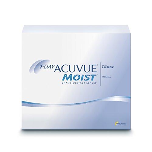 Acuvue 1-Day Moist Tageslinsen weich, 180 Stück / BC 8.5 mm / DIA 14.2 mm / -5.00 Dioptrien