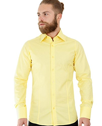 Redbridge Herren Regular Fit Freizeithemd R-2111 (S, Gelb (Yellow))