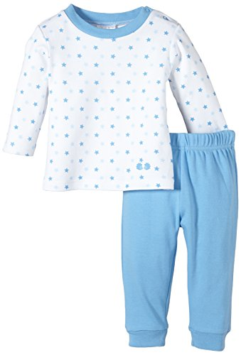 Twins Baby - Jungen 2-teiliger Schlafanzug mit Sternchen-Oberteil, Mehrfarbig, Gr. 86, Blau (16-4132 - little boy blue)