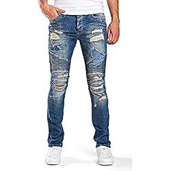 Redbridge Hombres Vaqueros Denim Skinny Rasgados Moda Pantalones Jeans