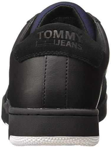 TOMMY HILFIGER Men's Basket Black Sneakers-10.5 UK/India (45 EU)(A8ATF137)
