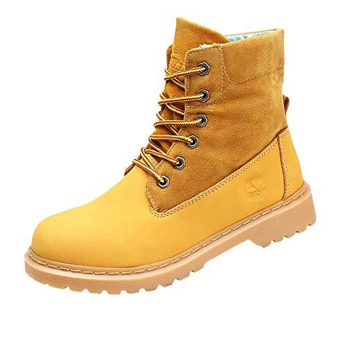 Winterschuhe Damen Stiefel Xinantime Damen Flache Stiefeletten Ankle Boots Kurzschaft Stiefel Schnalle Bequem Schuhe