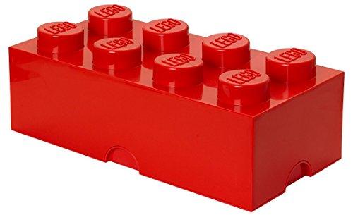 LEGO Storage Brick 8Knöpfe, stapelbar Aufbewahrungsbox, 12l, Plastik, rot, Large