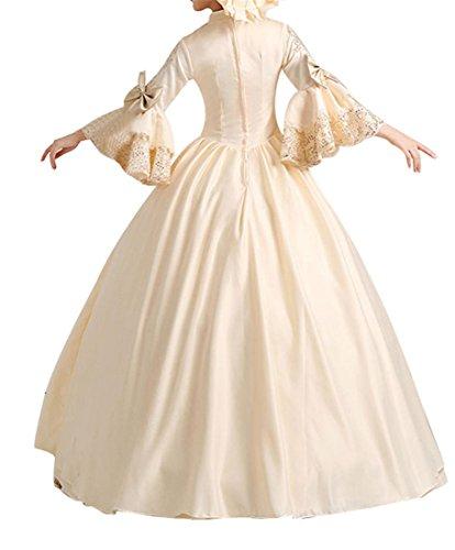 Nuoqi® Femmes Satin gothique victorien princesse robe Halloween Fancy Dress Cosplay Costume CC2355A