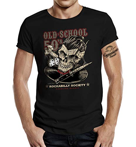 Rockabilly Hot Rod Racer T-Shirt: Old School 50's XL